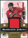 2010/11 Upper Deck SP Game Used Authentic Fabrics Gold #AFJI Jarome Iginla /100