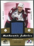 2010/11 Upper Deck SP Game Used Authentic Fabrics Gold #AFJO Joe Sakic 9/100