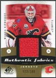 2010/11 Upper Deck SP Game Used Authentic Fabrics Gold #AFKI Miikka Kiprusoff /100