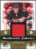 2010/11 Upper Deck SP Game Used Authentic Fabrics Gold #AFMH Marian Hossa /100