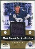 2010/11 Upper Deck SP Game Used Authentic Fabrics Gold #AFOA Adam Oates /100