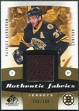 2010/11 Upper Deck SP Game Used Authentic Fabrics Gold #AFPB Patrice Bergeron /100