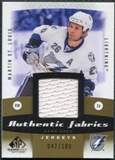 2010/11 Upper Deck SP Game Used Authentic Fabrics Gold #AFST Martin St. Louis /100