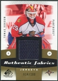 2010/11 Upper Deck SP Game Used Authentic Fabrics Gold #AFVK Tomas Vokoun /100