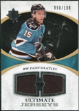2010/11 Upper Deck Ultimate Collection Ultimate Jerseys #UJDH Dany Heatley /100