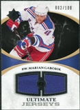 2010/11 Upper Deck Ultimate Collection Ultimate Jerseys #UJMG Marian Gaborik /100