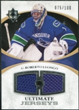 2010/11 Upper Deck Ultimate Collection Ultimate Jerseys #UJRL Roberto Luongo /100