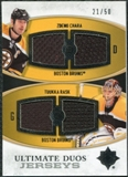 2010/11 Upper Deck Ultimate Collection Ultimate Jerseys Duos #UDJCR Zdeno Chara Tuukka Rask /50