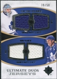 2010/11 Upper Deck Ultimate Collection Ultimate Jerseys Duos #UDJGP Jean-Sebastien Giguere Dion Phaneuf /50