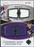 2010/11 Upper Deck Ultimate Collection Ultimate Jerseys Duos #UDJGR Wayne Gretzky Luc Robitaille /50