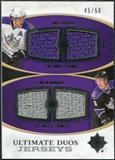 2010/11 Upper Deck Ultimate Collection Ultimate Jerseys Duos #UDJKD Anze Kopitar Drew Doughty /50