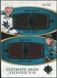 2010/11 Upper Deck Ultimate Collection Ultimate Jerseys Duos #UDJMH Patrick Marleau Dany Heatley /50