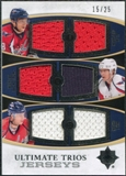 2010/11 Upper Deck Ultimate Collection Jerseys Trios #UTJ3 Mike Green Nicklas Backstrom Alexander Ovechkin /25