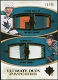 2010/11 Upper Deck Ultimate Collection Ultimate Patches Duos #UDJMH Patrick Marleau Dany Heatley /25