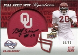 2011 Upper Deck Sweet Spot Veteran Signatures #SSSI Billy Sims Autograph /50