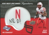 2011 Upper Deck Sweet Spot Rookie Signatures #RSNP Niles Paul Autograph /599
