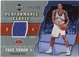 2005/06 Upper Deck Performance Clause Jerseys #CF Channing Frye /250