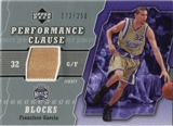 2005/06 Upper Deck Performance Clause Jerseys #FG Francisco Garcia /250