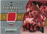 2005/06 Upper Deck Performance Clause Jerseys #JO Josh Childress /250