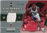 2005/06 Upper Deck Performance Clause Jerseys #MR Michael Redd /250