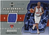 2005/06 Upper Deck Performance Clause Jerseys #ST Stephon Marbury /250