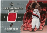 2005/06 Upper Deck Performance Clause Jerseys #WB Martell Webster /250
