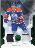 2011/12 Upper Deck Artifacts Jerseys Patch Emerald #4 Taylor Hall /65