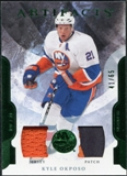 2011/12 Upper Deck Artifacts Jerseys Patch Emerald #83 Kyle Okposo /65