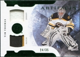 2011/12 Upper Deck Artifacts Horizontal Jerseys Patches Emerald #7 Tim Thomas /35