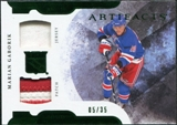 2011/12 Upper Deck Artifacts Horizontal Jerseys Patches Emerald #10 Marian Gaborik /35