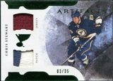 2011/12 Upper Deck Artifacts Horizontal Jerseys Patches Emerald #25 Chris Stewart 3/35