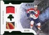 2011/12 Upper Deck Artifacts Horizontal Jerseys Patches Emerald #56 Stephen Weiss 32/35