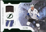 2011/12 Upper Deck Artifacts Horizontal Jerseys Patches Emerald #69 Vincent Lecavalier /35