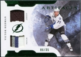 2011/12 Upper Deck Artifacts Horizontal Jerseys Patches Emerald #77 Victor Hedman /35
