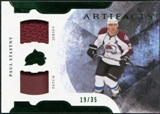 2011/12 Upper Deck Artifacts Horizontal Jerseys Patches Emerald #80 Paul Stastny /35