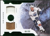 2011/12 Upper Deck Artifacts Horizontal Jerseys Patches Emerald #89 Sam Gagner 4/35