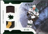 2011/12 Upper Deck Artifacts Horizontal Jerseys Patches Emerald #92 Joe Thornton /35