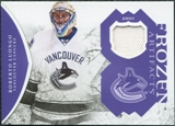 2011/12 Upper Deck Artifacts Frozen Artifacts Jerseys Purple #FARL Roberto Luongo