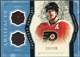 2011/12 Upper Deck Artifacts Treasured Swatches Blue #TSCP Chris Pronger /135