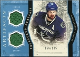 2011/12 Upper Deck Artifacts Treasured Swatches Blue #TSDS Daniel Sedin /135