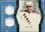 2011/12 Upper Deck Artifacts Treasured Swatches Blue #TSMG Marian Gaborik /135