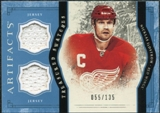 2011/12 Upper Deck Artifacts Treasured Swatches Blue #TSNL Nicklas Lidstrom /135