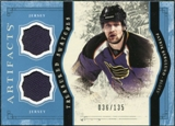 2011/12 Upper Deck Artifacts Treasured Swatches Blue #TSPB Patrik Berglund /135
