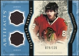 2011/12 Upper Deck Artifacts Treasured Swatches Blue #TSPK Patrick Kane /135