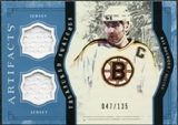 2011/12 Upper Deck Artifacts Treasured Swatches Blue #TSRB Ray Bourque /135