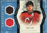 2011/12 Upper Deck Artifacts Treasured Swatches Blue #TSZP Zach Parise /135