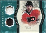 2011/12 Upper Deck Artifacts Treasured Swatches Jerseys Patches Emerald #TSCG Claude Giroux 28/35