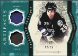 2011/12 Upper Deck Artifacts Treasured Swatches Jerseys Patches Emerald #TSMS Martin St. Louis /35