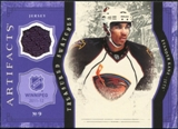 2011/12 Upper Deck Artifacts Treasured Swatches Purple #TSEK Evander Kane