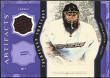 2011/12 Upper Deck Artifacts Treasured Swatches Purple #TSJH Jonas Hiller